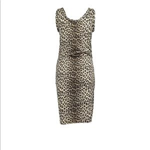 Lanvin Dresses - LANVIN swim style leopard dress rouched at hips